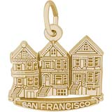 Gold Plated San Francisco Victorian Houses by Rembrandt Charms