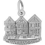 14K White Gold San Francisco Victorian Houses by Rembrandt Charms