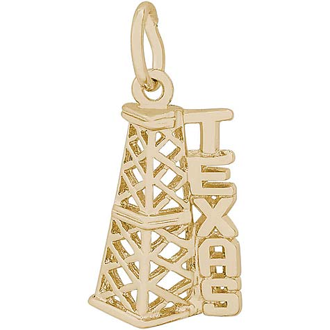 14K Gold Texas Oil Derrick Charm by Rembrandt Charms