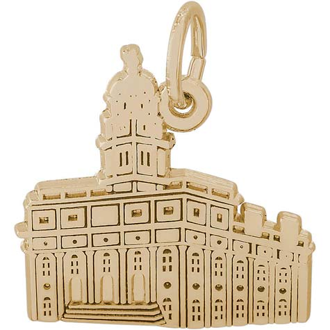 14K Gold South Carolina Temple Charm by Rembrandt Charms