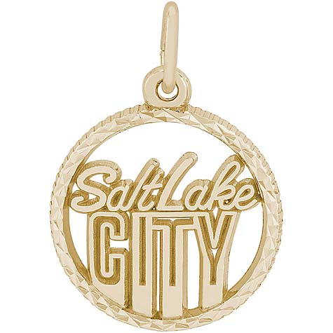14K Gold Salt Lake City Faceted Charm by Rembrandt Charms