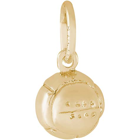 14K Gold Volleyball Accent Charm by Rembrandt Charms