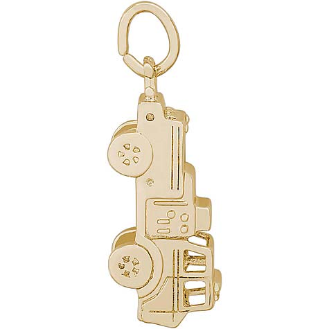14K Gold Fire Truck Charm by Rembrandt Charms