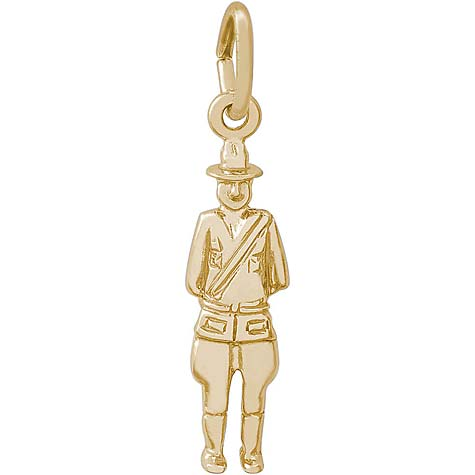 14K Gold Canada Mountie Charm by Rembrandt Charms