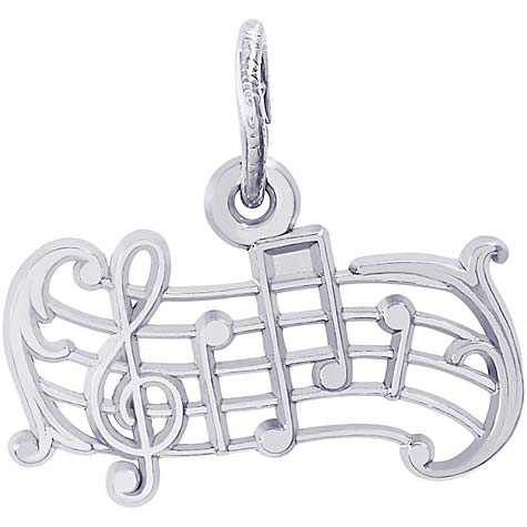 Sterling Silver Music Staff Charm by Rembrandt Charms