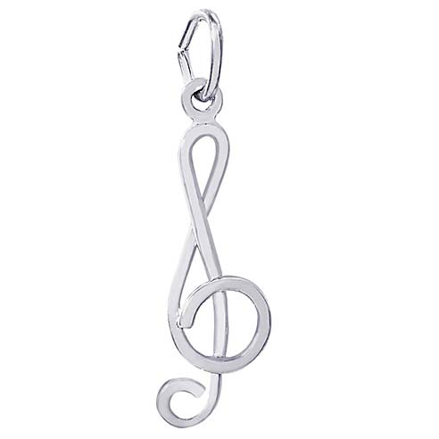 14K White Gold Treble Clef Charm by Rembrandt Charms