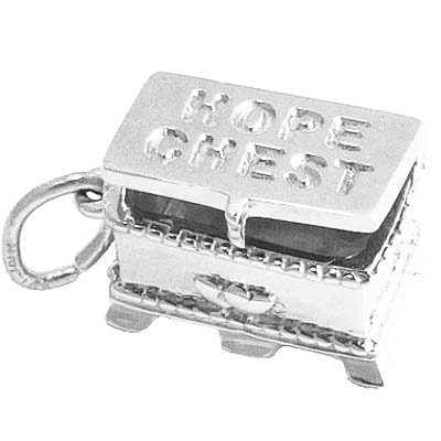 Sterling Silver Hope Chest Charm by Rembrandt Charms