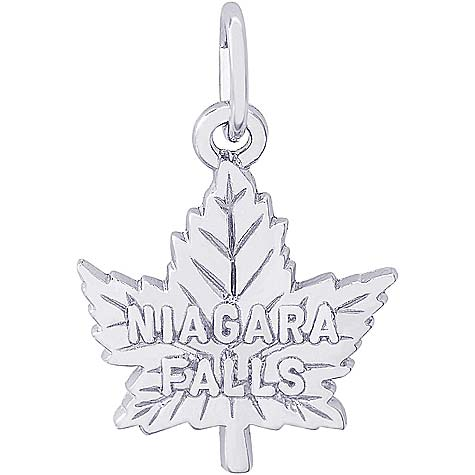 Sterling Silver Niagara Falls Maple Leaf by Rembrandt Charms