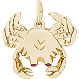 Gold Plate Crab with Stones Charm by Rembrandt Charms