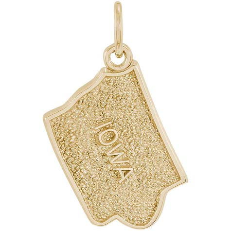 14K Gold Iowa State Map Charm by Rembrandt Charms