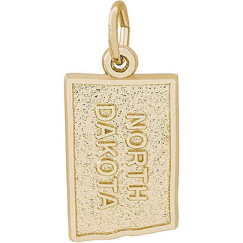 14K Gold North Dakota Charm by Rembrandt Charms