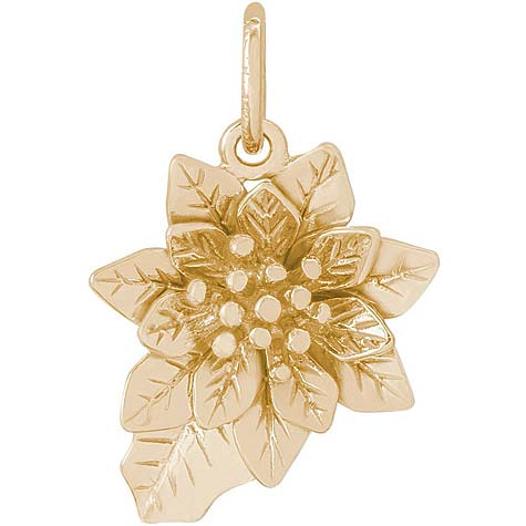 14K Gold Poinsettia Flower Charm by Rembrandt Charms