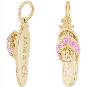 14K Gold Jamaica Sandal Charm by Rembrandt Charms