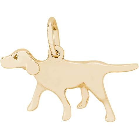 14K Gold Retriever Dog Charm by Rembrandt Charms