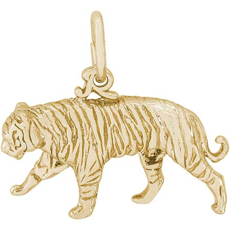 14k Gold Tiger Charm by Rembrandt Charms