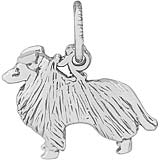 Sterling Silver Collie Charm by Rembrandt Charms