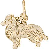 Gold Plate Collie Charm by Rembrandt Charms