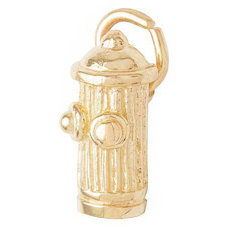 Gold Plate Fire Hydrant Accent Charm by Rembrandt Charms