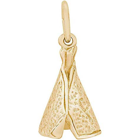 10K Gold Tepee Charm by Rembrandt Charms