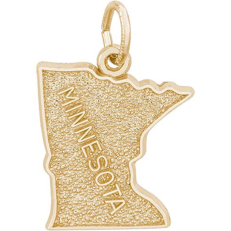14K Gold Minnesota Charm by Rembrandt Charms
