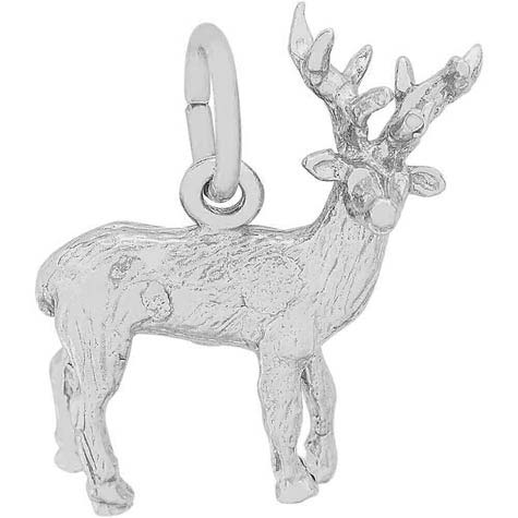 Sterling Silver Elk Charm by Rembrandt Charms