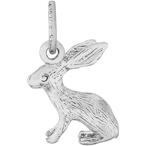 14K White Gold Bunny Accent Charm by Rembrandt Charms
