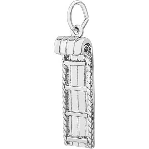 14K White Gold Toboggan Charm by Rembrandt Charms