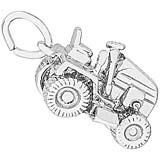 14k White Riding Lawn Mower Charm by Rembrandt Charms