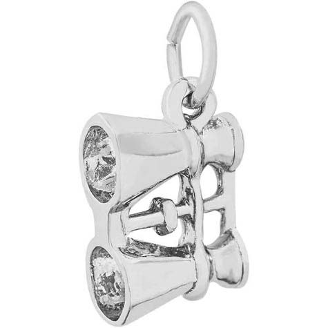 14K White Gold Binoculars Charm by Rembrandt Charms