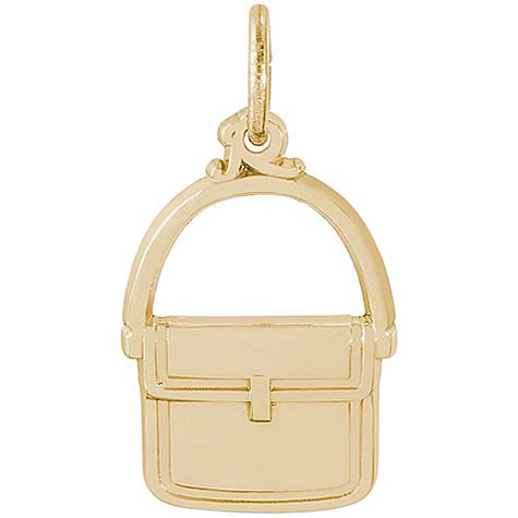14K Gold Messenger Purse Charm by Rembrandt Charms
