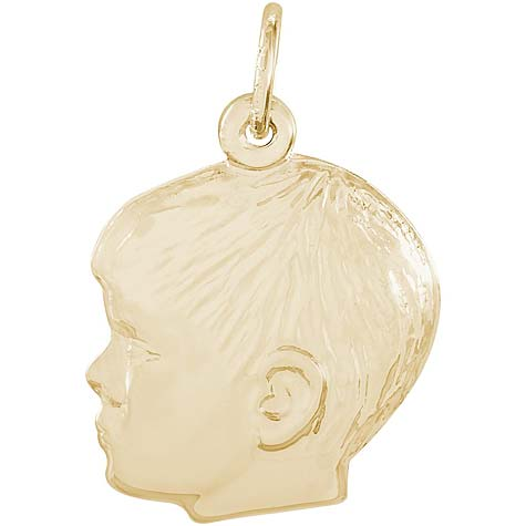 10K Gold Young Boy's Head Charm by Rembrandt Charms