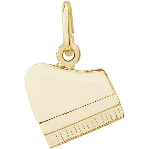 Gold Plate Petite Piano Charm by Rembrandt Charms