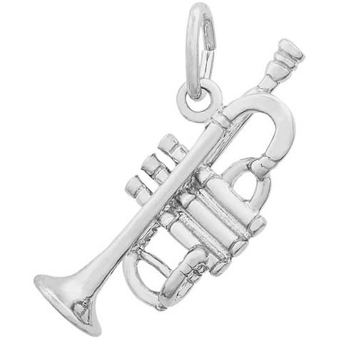 14K White Gold Trumpet Charm by Rembrandt Charms