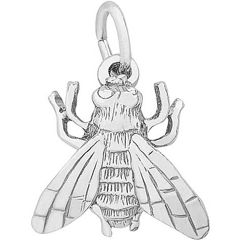 14K White Gold Fly Charm by Rembrandt Charms