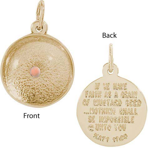 14k Gold Mustard Seed Charm by Rembrandt Charms