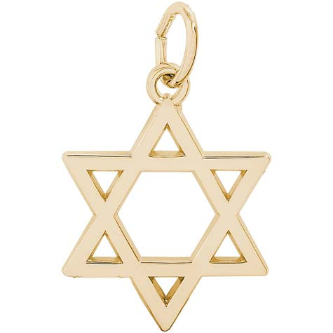14K Gold Star of David Charm by Rembrandt Charms
