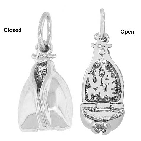 Sterling Silver Fortune Cookie Charm by Rembrandt Charms