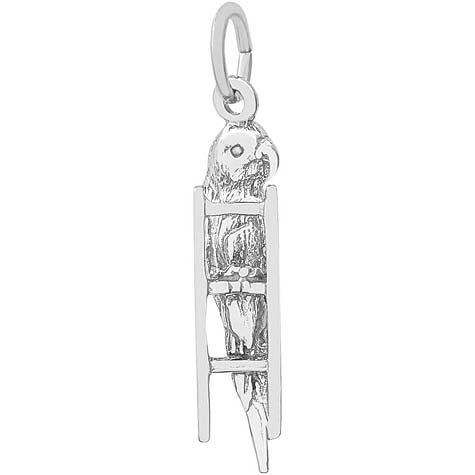 14K White Gold Budgie Charm by Rembrandt Charms