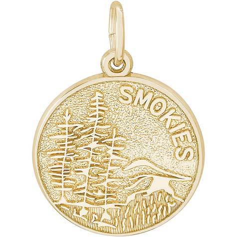 14K Gold Smokies Mountain Charm by Rembrandt Charms