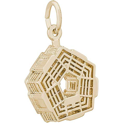 14K Gold Pentagon Charm by Rembrandt Charms