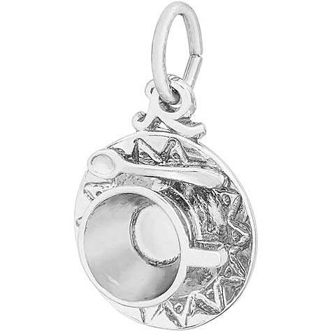 Sterling Silver Cup and Saucer Charm by Rembrandt Charms