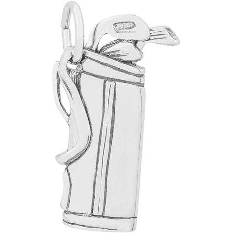 14K White Gold Golf Clubs Charm by Rembrandt Charms