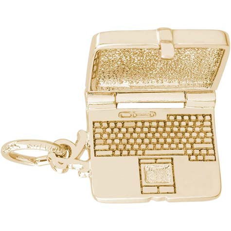 14k Gold Laptop Computer Charm by Rembrandt Charms