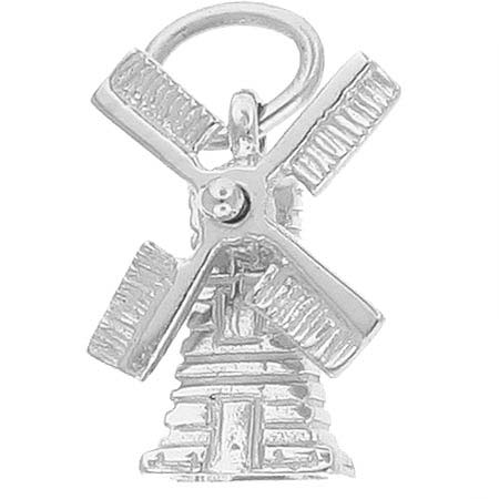 14K White Gold Windmill Charm by Rembrandt Charms