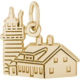 Gold Plated West Quoddy Head ME Lighthouse by Rembrandt Charms