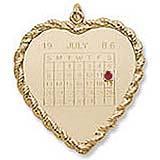 10k Gold Birthstone Calendar Charm by Rembrandt Charms