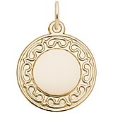 14K Gold Ornate Round Disc Charm by Rembrandt Charms
