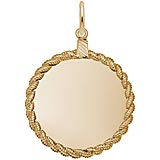 14K Gold Large Twisted Rope Disc Charm by Rembrandt Charms
