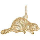 Gold Plate Beaver Charm by Rembrandt Charms