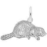 14k White Gold Beaver Charm by Rembrandt Charms